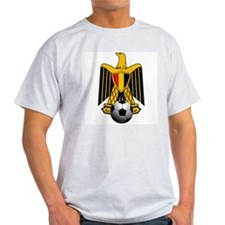 Egyptian Soccer Emblem Ash Grey T-Shirt