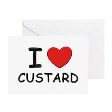 I love custard Greeting Cards (Pk of 10)