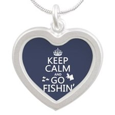 Keep Calm and Go Fishin' Necklaces