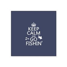 Keep Calm and Go Fishin' Sticker
