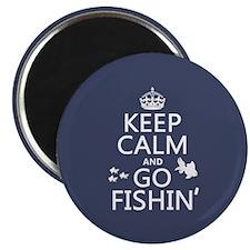 Keep Calm and Go Fishin' Magnet