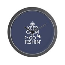 Keep Calm and Go Fishin' Wall Clock