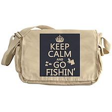 Keep Calm and Go Fishin' Messenger Bag