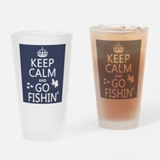 Keep Calm and Go Fishin' Drinking Glass