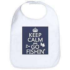 Keep Calm and Go Fishin' Bib