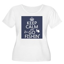Keep Calm and Go Fishin' Plus Size T-Shirt