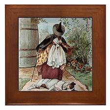 Old Mother Hubbards Dog Framed Tile