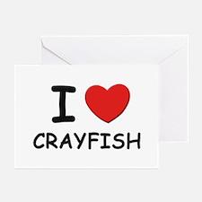 I love crayfish Greeting Cards (Pk of 10)