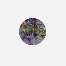 Wisteria (left half) by Claude Monet Mini Button