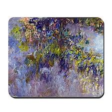 Wisteria (left half) by Claude Monet Mousepad