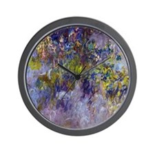 Wisteria (left half) by Claude Monet Wall Clock
