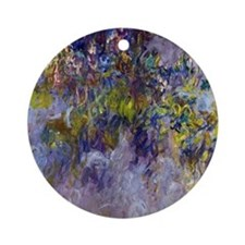 Wisteria (left half) by Claude Mone Round Ornament