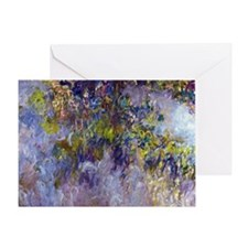 Wisteria (left half) by Claude Monet Greeting Card