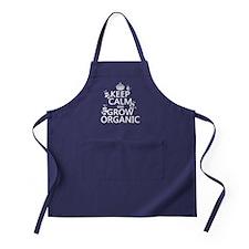 Keep Calm and Grow Organic Apron (dark)