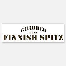 Finnish Spitz: Guarded by Bumper Bumper Bumper Sticker