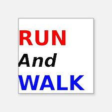 Run and Walk Sticker