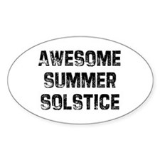 Awesome Summer Solstice Oval Decal