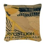 Les Passagere Woven Throw Pillow