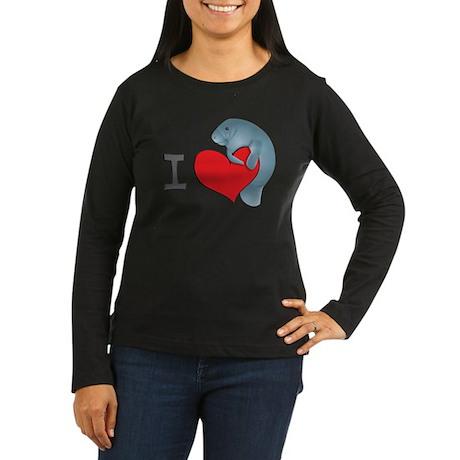 I heart manatees Women's Long Sleeve Dark T-Shirt