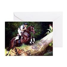 Trakehner Eventing Horse Greeting Card