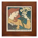 Salon des Cent 1 Framed Tile