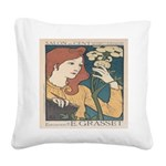 Salon des Cent 1 Square Canvas Pillow