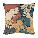 Salon des Cent 1 Woven Throw Pillow