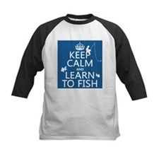 Keep Calm and Learn To Fish Baseball Jersey