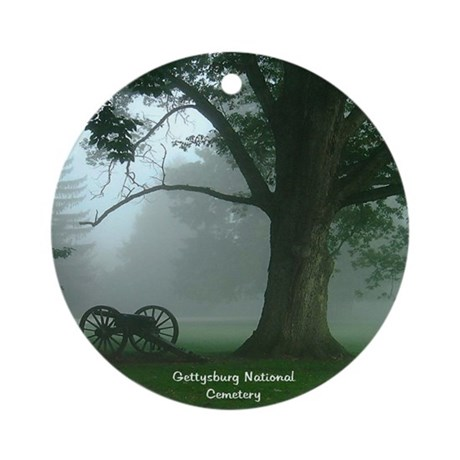 GBG Natl Cemetery Ornament (Round)