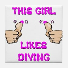 This Girl Likes Diving Tile Coaster