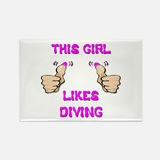 This Girl Likes Diving Rectangle Magnet