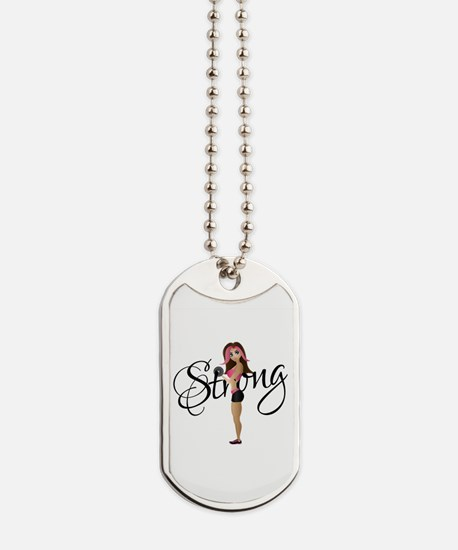 Strong Fit Girl Dog Tags