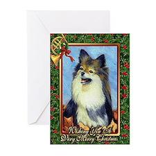 Pomeranian Dog Christmas Greeting Cards (Pk of 20)