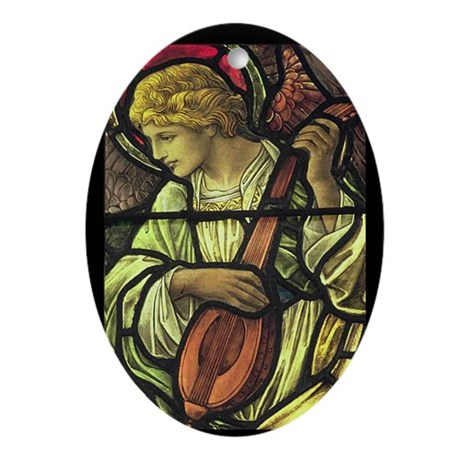 A Musical Angel Oval Ornament