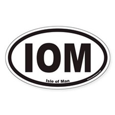 Isle of Man IOM Euro Oval Decal