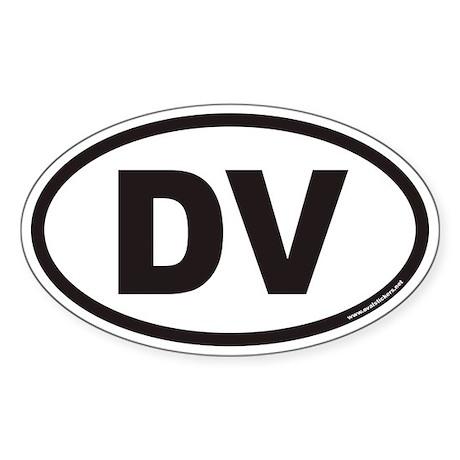 DV Euro Oval Sticker