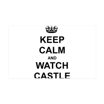 """""""Keep Calm And Watch Castle"""" 35x21 Wall Decal"""