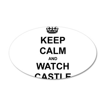 """Keep Calm And Watch Castle"" 20x12 Oval Wall Decal"