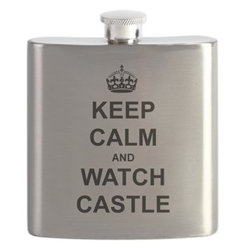 """""""Keep Calm And Watch Castle"""" Flask"""