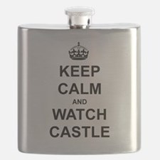 """Keep Calm And Watch Castle"" Flask"