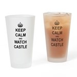 """""""Keep Calm And Watch Castle"""" Drinking Glass"""