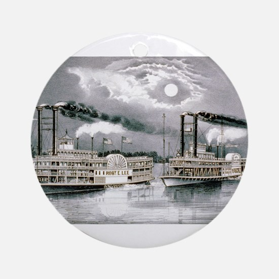 The great Mississippi steamboat race - 1870 Round