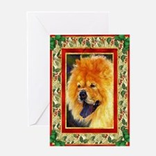 Chow Chow Dog Christmas Greeting Card