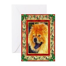 Chow Chow Dog Christmas Greeting Cards (Pk of 10)