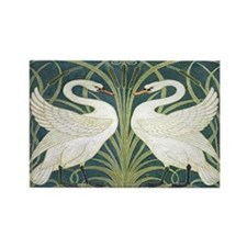 Swan & Rush Rectangle Magnet