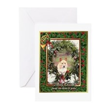 Welsh Corgi Pembroke Christmas Greeting Cards (Pk