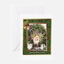 Welsh Corgi Pembroke Christmas Greeting Card