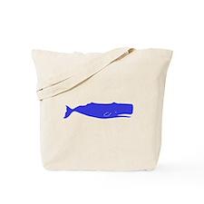 Blue Sperm Whale Tote Bag