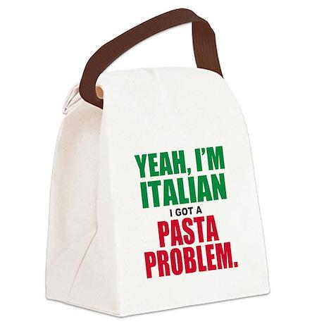 Italian Food Canvas Lunch Bag