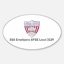 AFGEShieldBriefcaseLocal3129.gif Sticker (Oval)